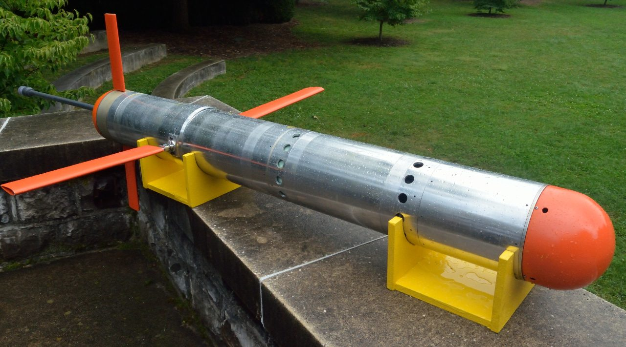 The Virginia Tech Underwater Glider, designed, fabricated and field tested by Artur Wolek while working as a doctoral student.